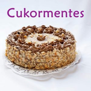 Cukormentes torta, sütemény