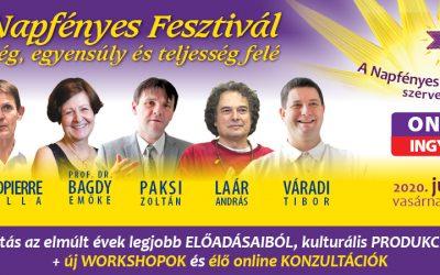 Online Napfényes Fesztivál 2020. június 7-én